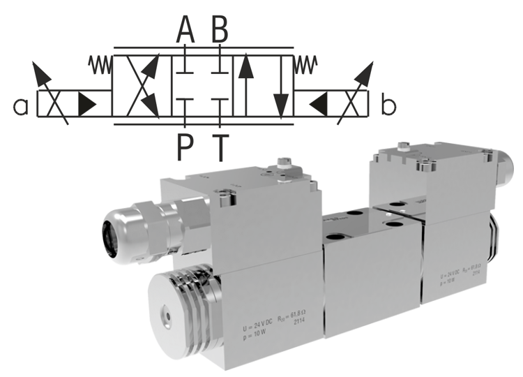 Proportional Directional Control Valves, Pilot Operated