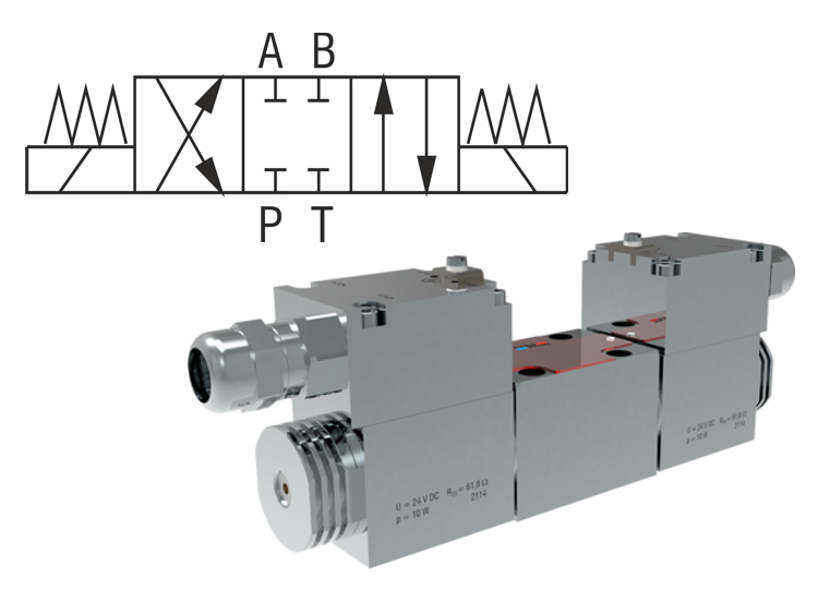 4/2 and 4/3 Directional Control Valves, Solenoid Operated