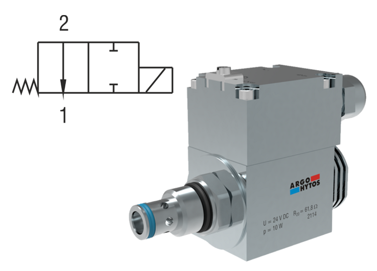 2/2 Directional Valve, Solenoid Operated, Spool Type, Direct-Acting