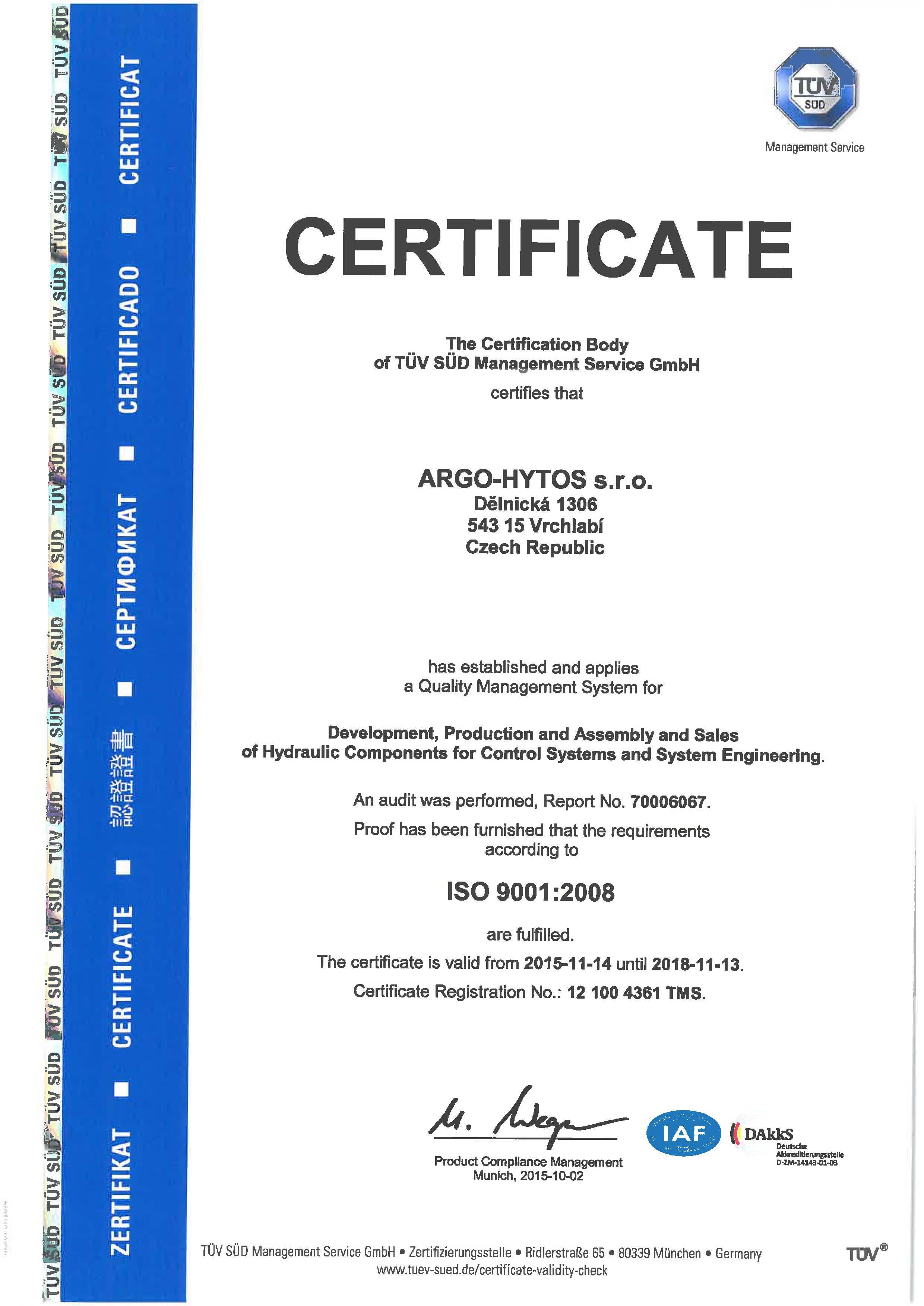 Certificates argo hytos certificates for argo hytos sro yadclub Image collections